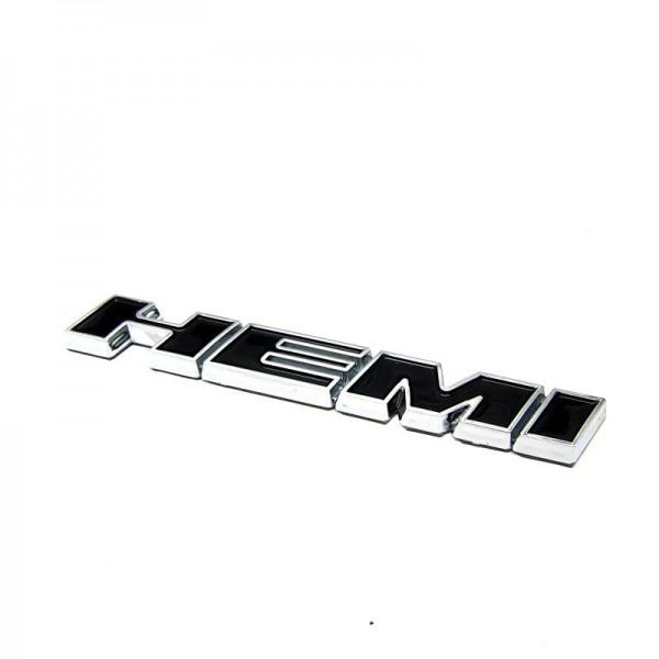 Metall Emblem Aufkleber HEMI Schwarz mit Chrom