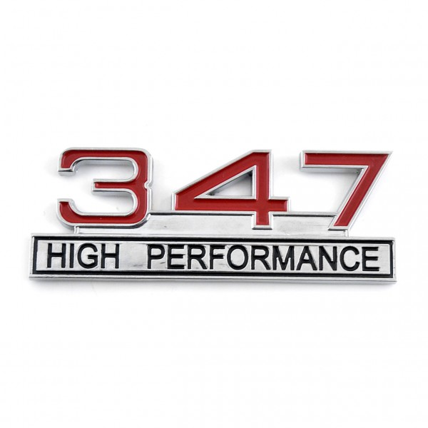 347 High Performance Emblem Chrom Rot