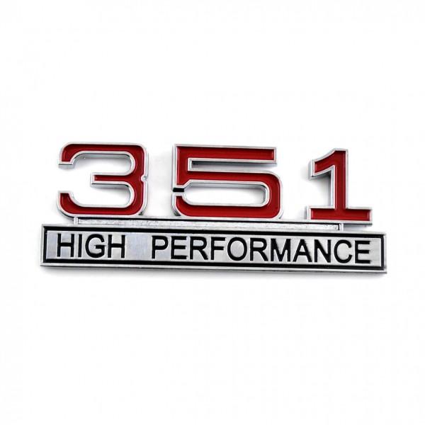 351 High Performance Emblem Chrom Rot