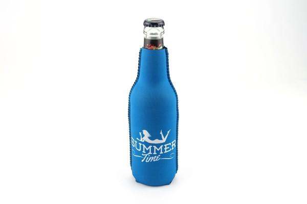 Neopren Flaschenkühler Summertime Blau