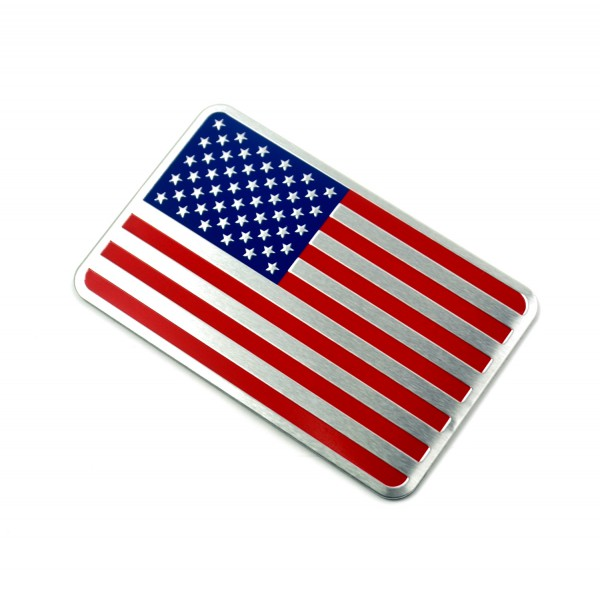 Metall Emblem Aufkleber USA Fahne