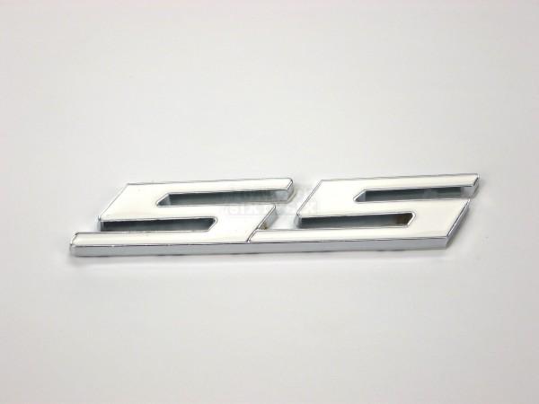 Metall Emblem Aufkleber Supersport SS Weiß
