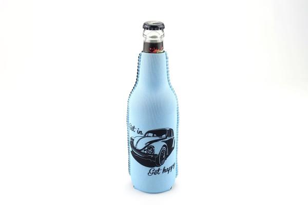 Neopren Flaschenkühler Get in Get Happy Blau