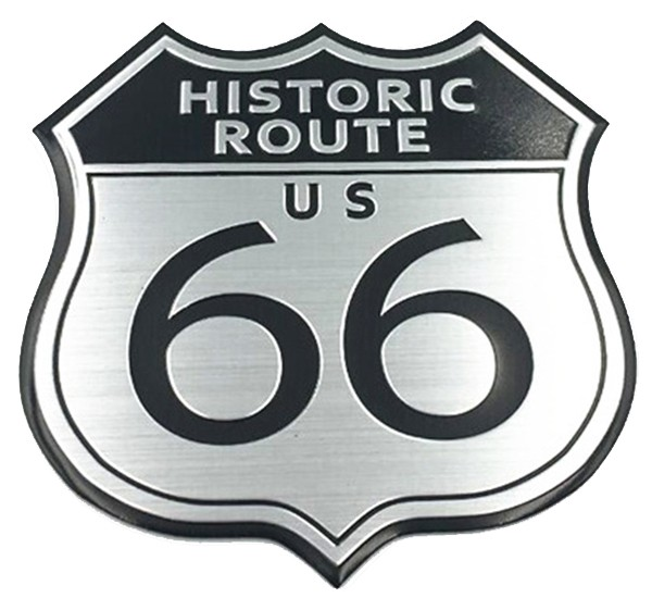 Metall Emblem Aufkleber Historic Route 66