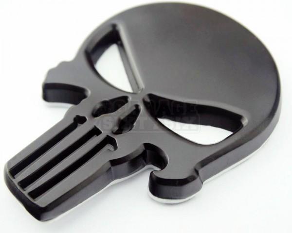 Metall Emblem Aufkleber Punisher Schwarz