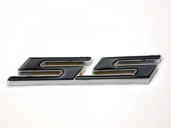 Metall Emblem Aufkleber Supersport SS Schwarz