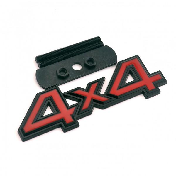 Kühlergrillemblem 4x4 Schwarz Rot