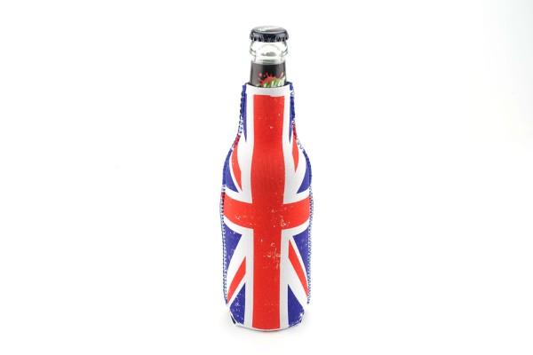 Neopren Flaschenkühler UK Weiß