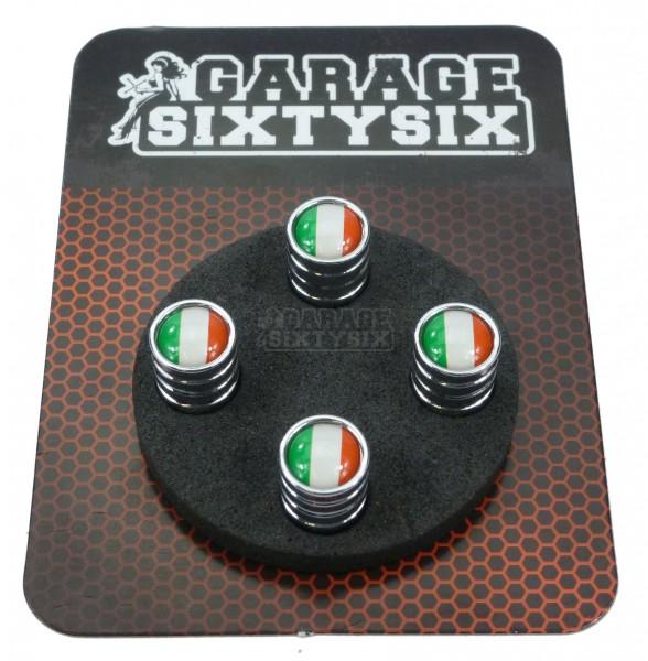 4 Ventilkappen Italien in Chrom / Modell: Detroit