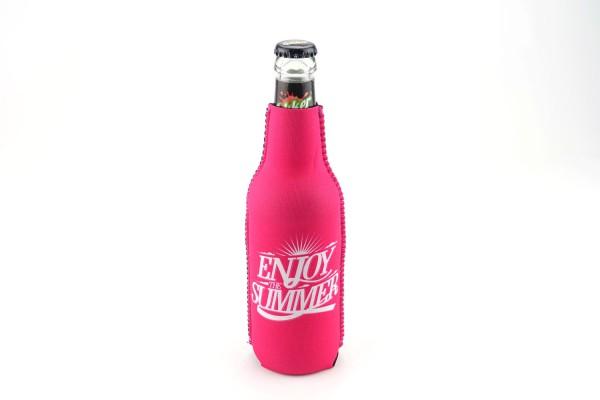 Neopren Flaschenkühler Enjoy the Summer Pink