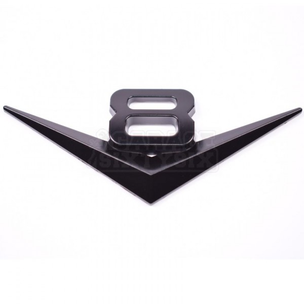Metall Emblem Aufkleber V8 Schwarz